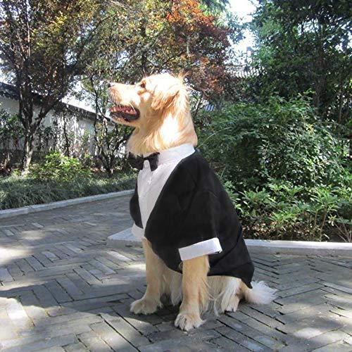 VISTANIA Große Hunde Hochzeit Anzug Kleidung, Große Hund Tuxedo Kostüme Formale Party-Outfits, Fit Golden Retriever, Pitbull, Labrador, Samoyed,XL