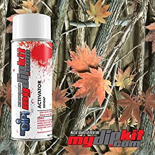 Hydrographic Film Combo- Water Transfer Printing - Hydro Dipping Activator with - Orange Leaf Camo - HC-252