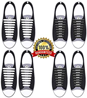 elegantstunning Multi-Color No Tie Shoelaces for Kids and Adults