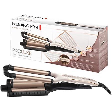 Remington PROluxe 4in1 CI91AW - Ondulador, Moldeador, 4 Tipos de Ondas, Cerámica, Digital, Rosa Metalizado
