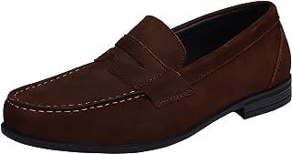 Yaer Mocassins en Cuir Hommes Fait à la Main Flat Penny Loafers Business Chaussure Bateau