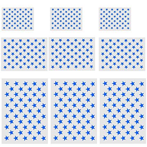 9-teiliges Schablonen-Set mit amerikanischer Flagge, 50 Sterne, zum Malen auf Holz, Stoff, Airbrush-Set, 3 große, 3 mittelgroße & 3 kleine