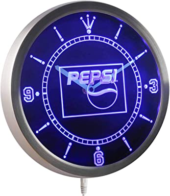 Pepsi Cola Beer Beverage Bar Pub Club Round Wall Clock