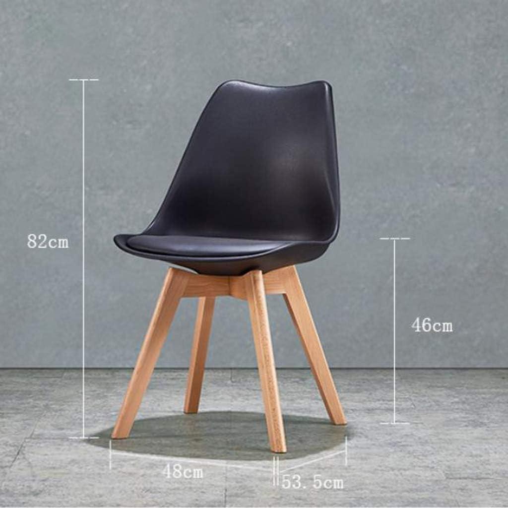 Stable Simple chaise bureau étudiant et chaise de maquillage tabouret retour à la maison à manger chaise d'ordinateur Gratuit (Color : Black) Black