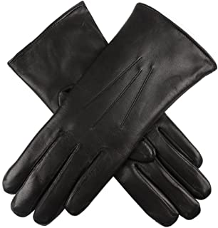Dents Ripley Fur Lined Leather Womens Gloves 8 inches Black