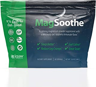 Jigsaw Health - MagSoothe Packets - High-Quality Magnesium Glycinate Powder Drink Mix – Tart Raspberry Lemonade Magnesium Powder