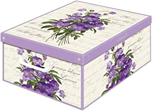 KANGURU Kolekcja pachnące ozdobne pudełko do przechowywania z uchwytami i pokrywką, pachnący fiolet, średnie