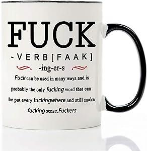 Mecai Coffee Mug-The F word and verb definition-11OZ Ceramic Coffee Mug,Fathers Day Birthday Gag Gifts For Men Women Coworker Friend