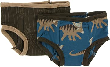 KicKee Pants Training Pants Set (2T-3T, Heritage Blue Kosmoceratops and Petrified Wood)