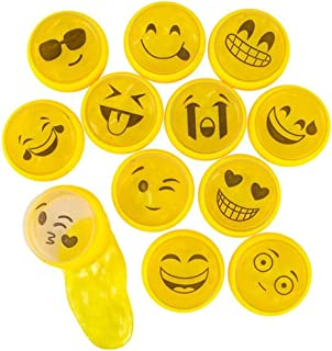 Kicko Emoji Noise Putty Toys for Kids - Pack of 24 Emoticon Slimes - Ideal for Sensory and Tactile Stimulation, Event Prizes, Arts and Crafts, Bag Stuffer, Slime Parties, Educational Game