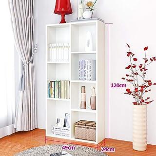 Strong Sturdy Bookcase Floor-standing Bookshelf-7 Grid Wooden Creative Bookshelf Student Simple Living Room Rack (Color : ...