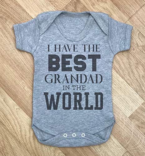El mejor abuelo del mundo Baby Body Baby Grow Baby Body Suit Baby Ropa de bebé Mono 12 meses