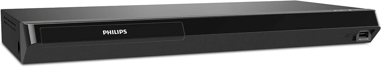 Philips 4K Ultra HD Blu-ray Player with Playback Built-in WiFi, Netflix, YouTube & VUDU