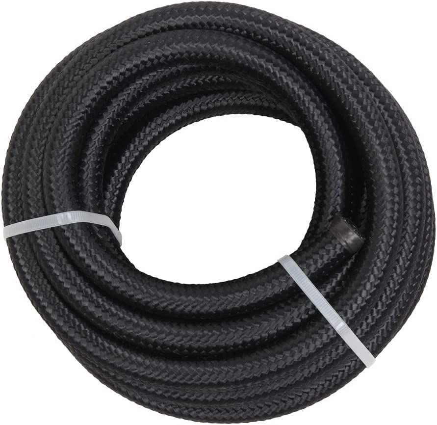 FQX 8AN 16-Foot Ranking TOP6 Ranking TOP1 Universal Stainless Hose Blac Braided Steel Fuel
