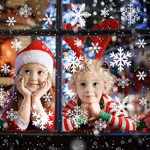 AFASOES 8 Pegatinas Navidad Ventanas Pegatinas Copos de Nieve Pegatinas de Navidad...