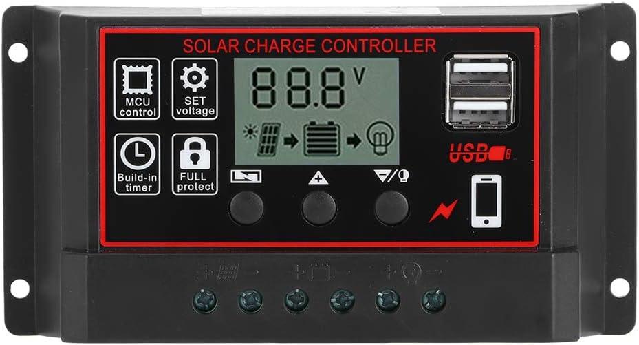 CHADOUsm Latest item 12V 24V Solar Intelligent Controller Panel Max 71% OFF Charge