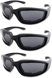 3 Pair Motorcycle Riding Glasses Padding Goggles UV...
