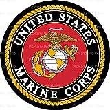 6' Round Cake - United States Marine Corps Emblem - Edible Cake or Cupcake Topper