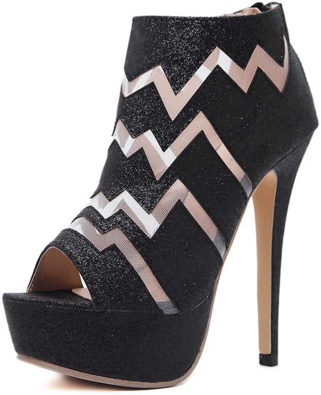 Sandales de femme, skor skor skor de printemps italiennes, bottes de poisson à talons hauts dans la rue.  ärlig service