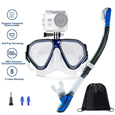 Ufanore Snorkel Set, Dry Top Snorkel, Panoramic...