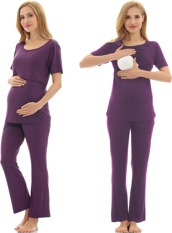 Bearsland Women's Maternity Pregnancy Ranking Bargain TOP5 Sleepwear Set Nursing Brea
