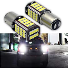 Ruiandsion 2pcs BA15D LED Bulbs Super Bright 6000K White 6V 2835 56SMD LED Reverse Backup Turn Signal Tail Light Bulbs