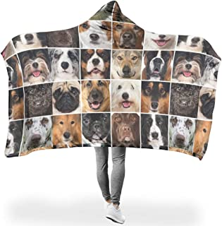 IOVEQG Animal Dog Smooth Soft Print Plush Throw Blanket for Bed Couch White 60x80 inch