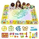 Joyfia Alfombrilla para dibujo de agua, pizarra mágica, 120 x 90 cm, sin desorden, con rotuladores de agua, juguete regalo para niñas y niños mayores de 3 años