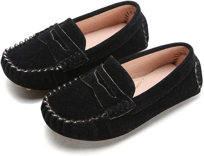 Battle Men Little Kids Penny Loafers Flat Heel Slip On Toddler S Shoes For Boys Girls Causal Comfortable Color Black Size 12 5 M US Little Kid