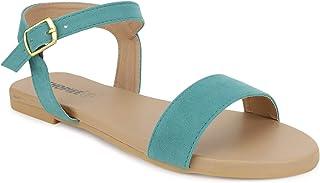 SHOPIEE Ankle Strap Flats Sandal-077