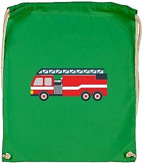 Druckerlebnis24 - Bolsa de tela de algodón orgánico, diseño de camión de bomberos