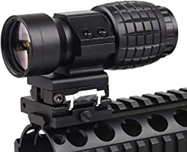 Luger Tactical 3X Magnifier Scope with Flip to Side 20mm Weaver Rail Mount Quick Detach for Hunting Shooting