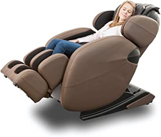 Space-Saving Zero-Gravity Full-Body Kahuna Massage Chair Recliner LM6800 with Yoga & Heating Therapy (Brown WG)