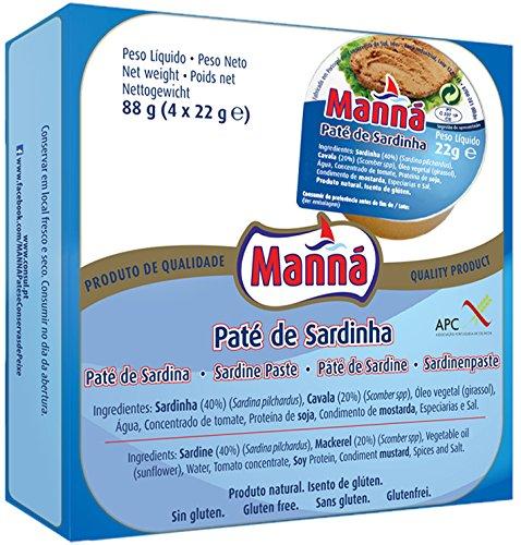 Manná Sardine Paté from Portugal 4x88g