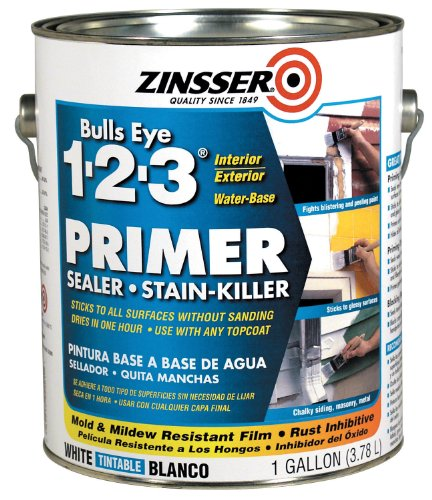 Zinsser Bulls Eye 1-2-3 Primer Sealer Stain Killer 02001 4- Gallons