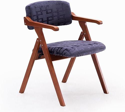 YUHUS Home Chaise de Salle à Manger en Bois Massif Simple créative avec Fauteuil Pliant, Chaise de Bureau, Chaise de Loisirs - Petit Tabouret (Couleur   C, Taille    1)