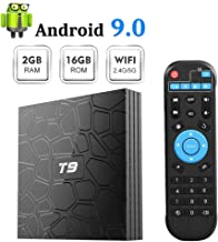 T9 Android 9.0 TV Box 2GB RAM 16GB ROM with RK3318 Quad-core BT4.0 Support Dual WiFi 2.4G+5.0G 3D 4K Smart TV Box