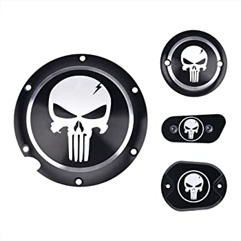 Skull Soldier GUAIMI CNC Derby Timer Timing Engine Cover For Harley Dyna FLD Street Glide FLHTK FLHRS Fatboy FXSTB