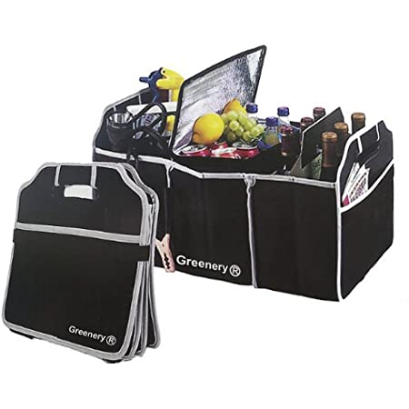 Rugged and Durable for Hauling Cargo YIOVVOM Trunk Organizer Best for Keeping All Truck Supplies Together While Folding Flat for Easy Storage Organizer for Car SUV and Truck Blue
