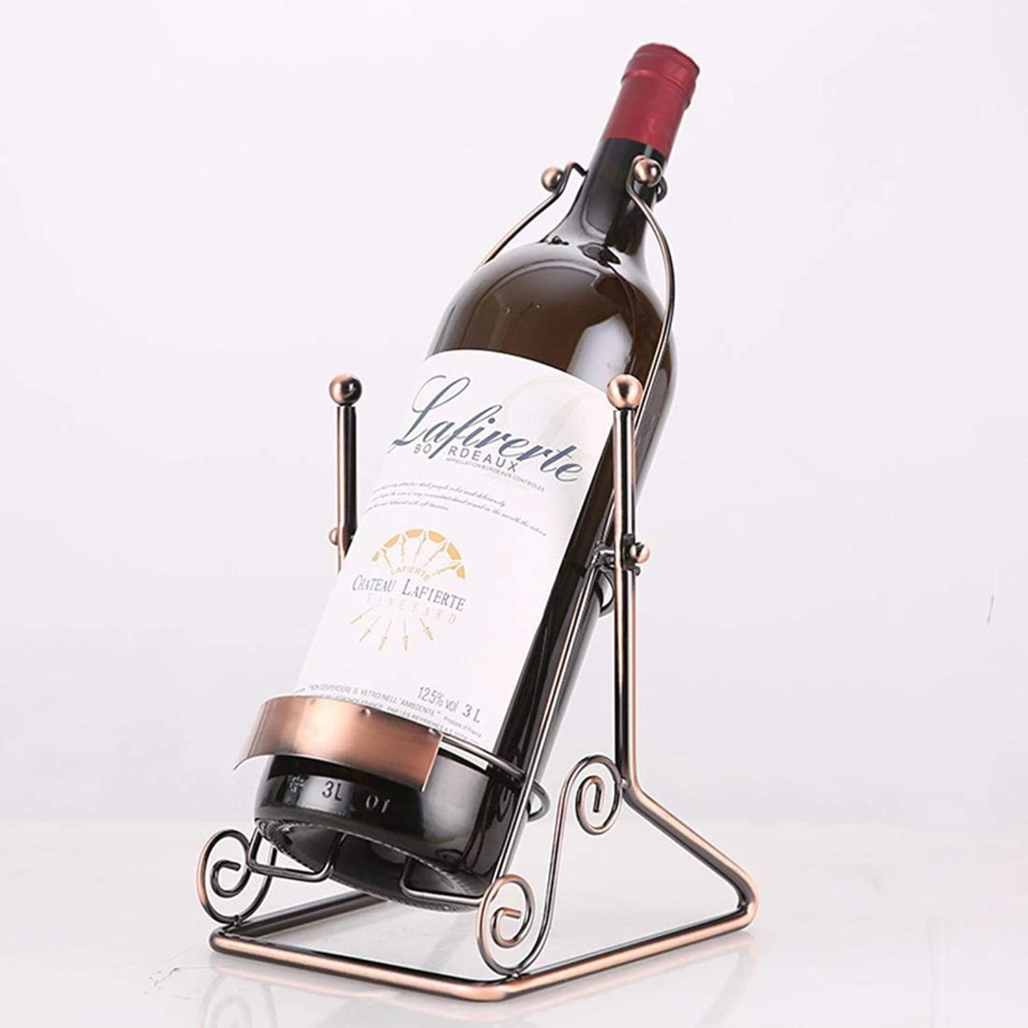 Red Wine Shelf Wine Rack Metal Large Size Wine Rack Crafts Dining Room Bar Interior Decorations, 3L