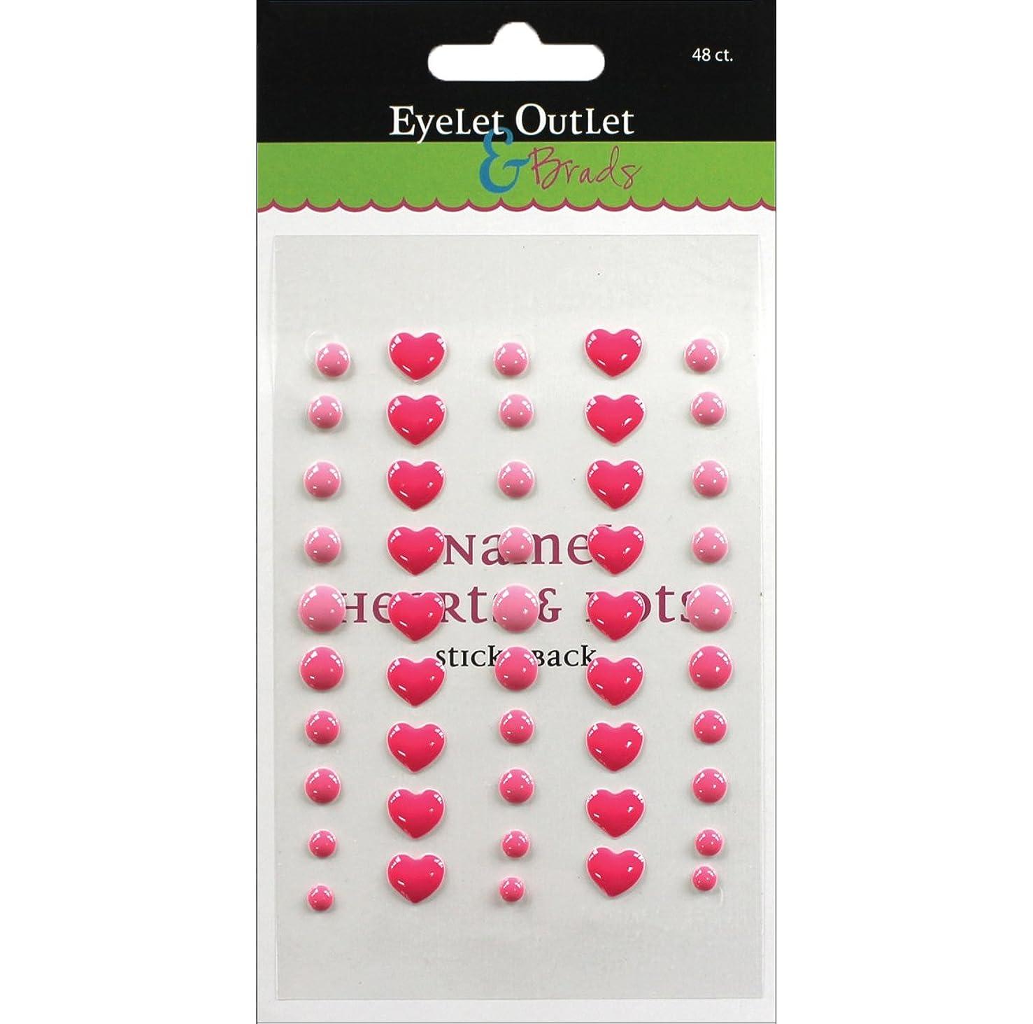 EYELET OUTLET 48 Enamel Heart, Pink