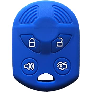 Gules Rpkey Silicone Keyless Entry Remote Control Key Fob Cover Case protector For Ford Lincoln Mercury OUCD6000022 164-R8046 164-R7040 CWTWB1U722