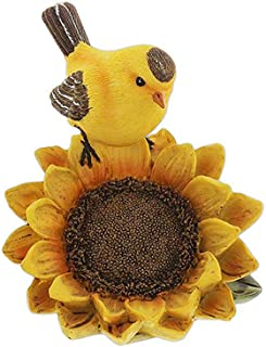 SLIFKA Bird Perched on a Sunflower Figurine