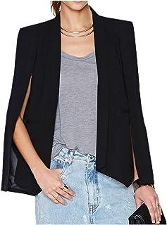 Women Capo Blazer. Moda Solido Scialle Collar Apri Fronte Giacca
