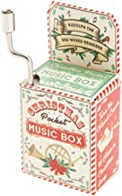 Christmas Mini Mechanical Crank Music Box - Favourite Festive Song / Tune / Music Stocking Filler (Rudolph The RED Nosed Reindeer)