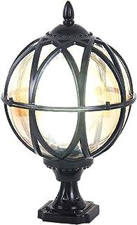 Post Cap Lights Outdoor, IP65 Waterproof Garden Lamp, Antique Post Light E27 Warm Light Floor Lamp Driveway Lighting for Y...