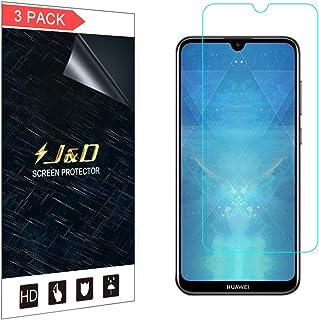 J&D kompatibel med 3-pack Huawei Y7 2019/Y7 Pro 2019/Y7 Prime 2019 skärmskydd, [Inte full täckning] Premium HD klart films...
