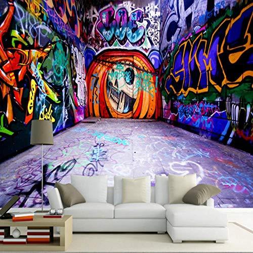 Photo Wallpaper Modern 3D Space Graffiti Wallpaper Decoración Pintura Hd Custom Mural-350Cmx245Cm