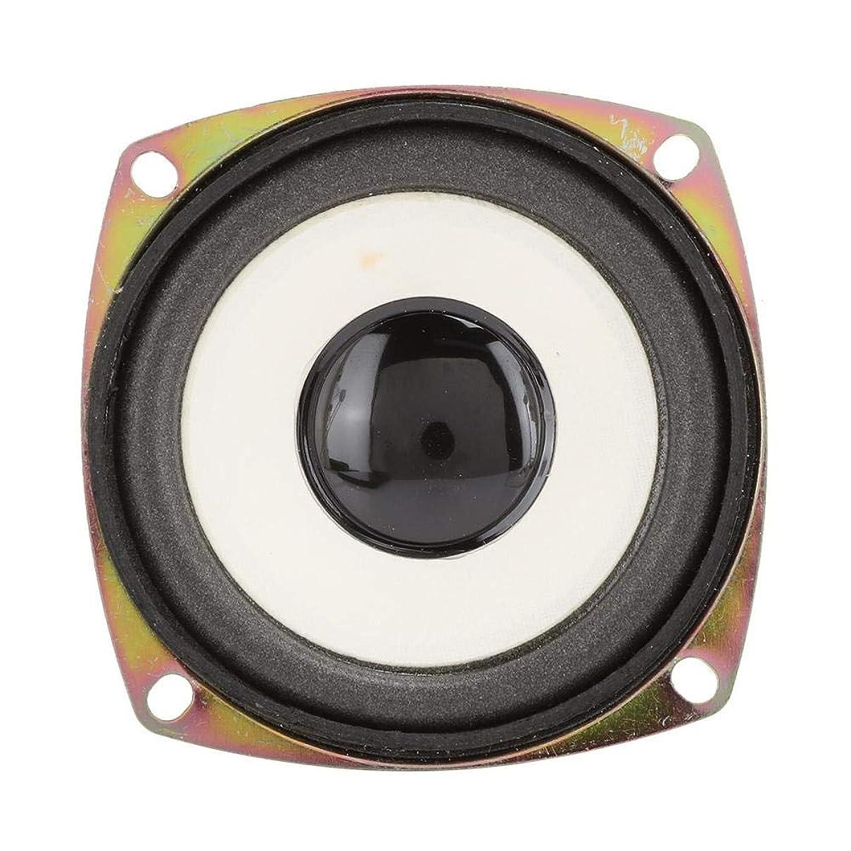 アクセスできない供給環境フルレンジスピーカー、3インチ4ohm 5Wミニフル周波数オーディオスピーカースピーカーホームステレオウーファースピーカーマルチメディアサウンドボックスDIY用。