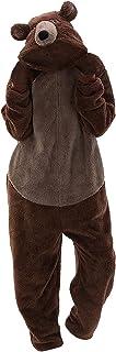Dasongff Adulte Unisexe Animal Costume Cosplay Ours Combinaison Pyjama Outfit Nuit Costume d'animaux Pyjama Onesie Carnava...